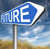 bright future ahead planning a happy future having a good plan with text and word concept road sign