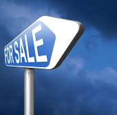 For sale sign selling a car house apartment or other real estate
