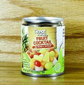Can Of Great Value Fruit Cocktail