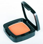 Orange eye shadows on white background