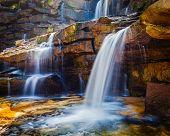Tropical waterfall. Popokvil Waterfall, Bokor National Park, Cambodia