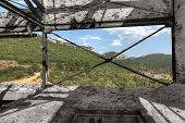 picture of ore lead  - Old abandoned mining factory unit processing lead - JPG