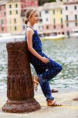 Portrait of lovely girl - Portofino, Italy