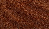Texture of natural ground coffee