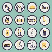 Set Of Icons Of The Gas And Oil Industry