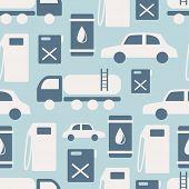 Seamless Pattern Oil Industry