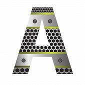 Perforated Metal Letter A