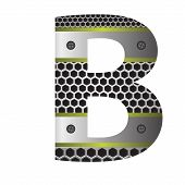 Perforated Metal Letter B