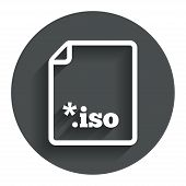 File ISO icon. Download virtual drive file.