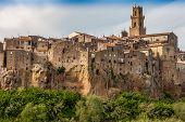 Pitigliano city on the cliff, Tuscany, Italy