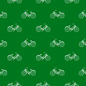 Seamless pattern with repeated images of bicycle