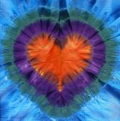 Heart tie dye. Fabric background