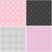 four seamless lace backgrounds