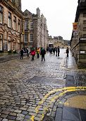 Edinburgh, Scotland-january 20: Royal Mile Street In Edinburgh, Scotland, On January 20, 2012