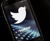 Belgrade - April 26, 2014 Logo Of Popular Social Media Website Twitter On Smart Phone Screen
