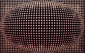 spotted spherical black red background