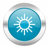 sun internet blue icon