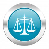 justice internet blue icon