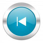 prev internet blue icon