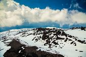View From Volcano Etna In Spring