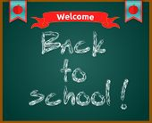 Back To School Concept Text On Chalkboard