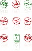 Vector rubber stamps on white background