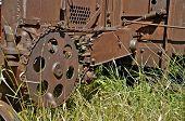 Huge gear of antique machine