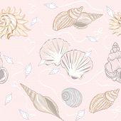 Shelly seamless pattern