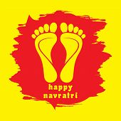 pic of navratri  - happy diwali or navratri festival greeting card background vector - JPG