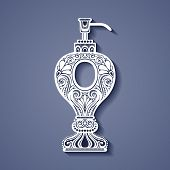 Vector Vintage Ornate Soap Dispenser
