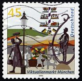 Postage Stamp Germany 2003 View Of Market, Munich