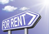 apartment or house for rent banner, renting a room or flat or other real estate sign. Home to let