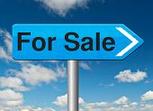 For sale banner, selling a house apartment or other real estate sign buy or sell online on internet your car or other product