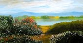 Beautiful Landscape original oil painting on canvas