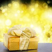 golden  gift box