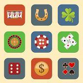 Casino Design Icons
