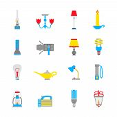 Flashlight and Lamps Icons