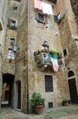 The medieval old town in Tuscany