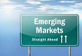 Highway Signpost Emerging Markets
