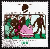 Postage Stamp Germany 1996 Ludwig Thoma, German Author