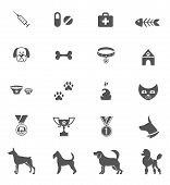 stock photo of dog poop  - Cute dog icons set isolated on white - JPG