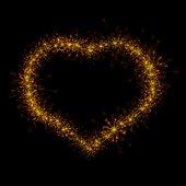 Heart sparkler. Vector