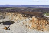 Quarry And Nature Landscape