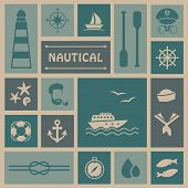 picture of life-boat  - vector nautical background - JPG