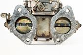foto of carburetor  - the carburetor with its valves of the combustion engine - JPG