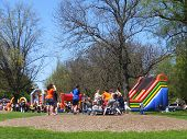 Playground at the 2014 Tulip Festival at Washington Park in Albany, New York State