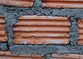 Close-up Brick Of Building Construction House