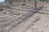 picture of reinforcing  - reinforcing steel rods bars for building construction - JPG