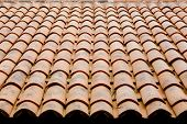 stock photo of roof tile  - Roof tile orange color decorations design for top - JPG