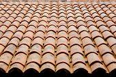image of roof tile  - Roof tile orange color decorations design for top - JPG